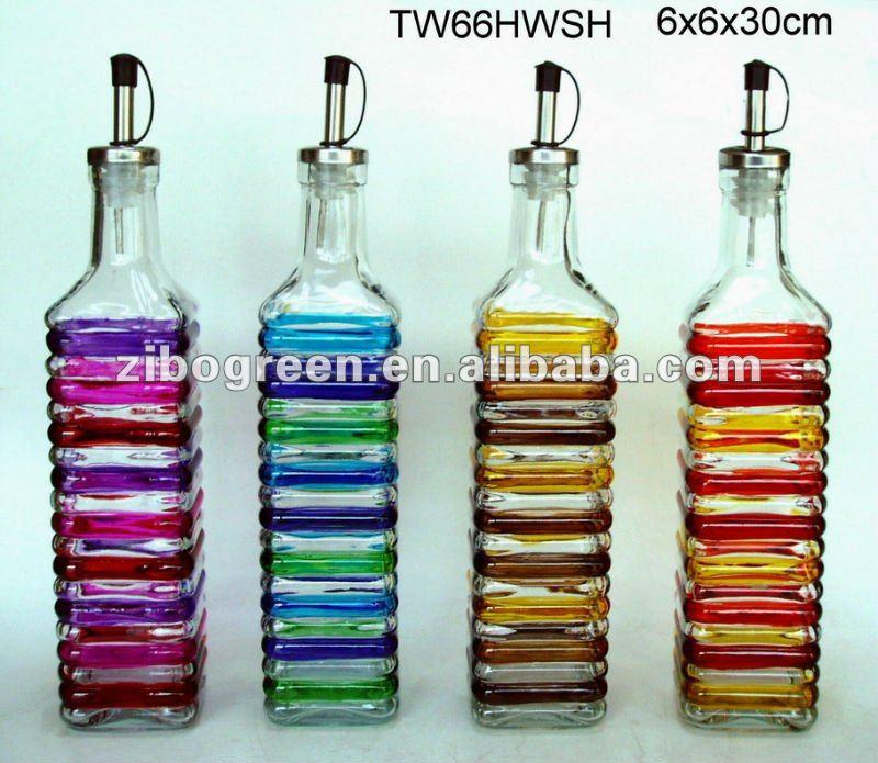 twhwsh ml vidrio pintado a mano botellas de aceite y vinagre buy product on alibabacom