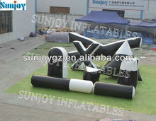 Black&white 8pcs paintball bunkers outdoor small Xtreme package