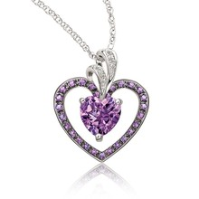 Pictures of diamond necklace purple heart silver necklace