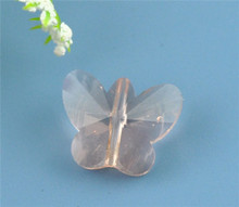 Light Salmon Butterfly Shaped Crystal Glass Beads
