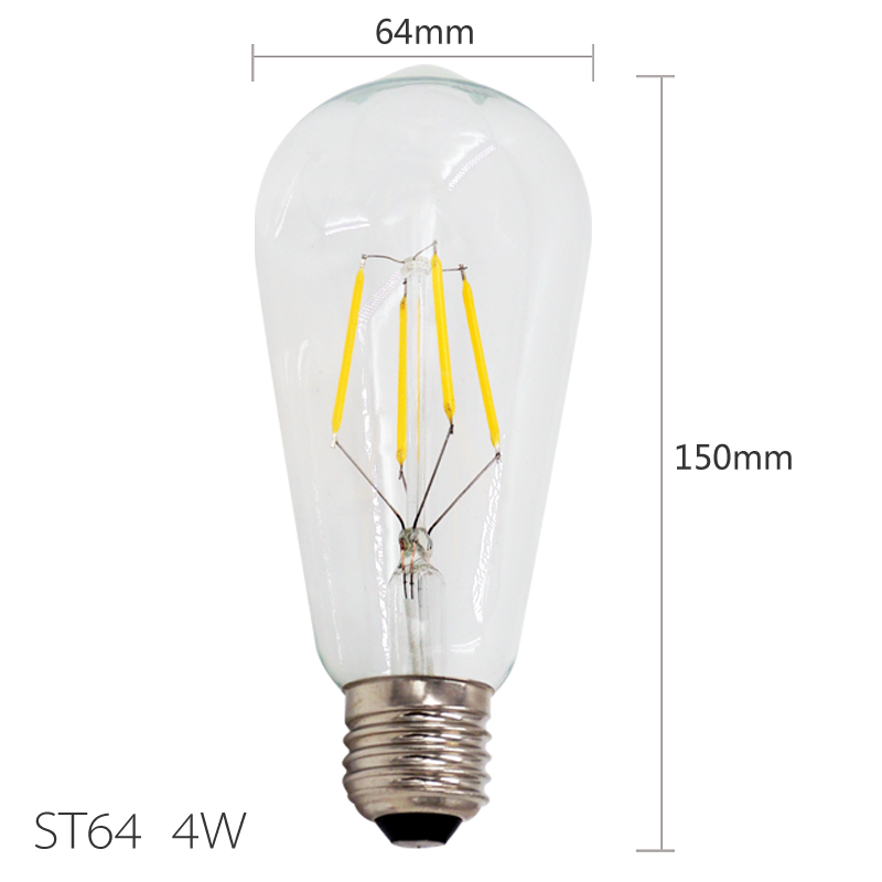 Home Led Bulbs Filament Light Vintage Retro Antique Industrial Style Lamp Bulb Led Bulb E27 St64