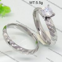 2015 Fashion Icon Hot Sell rose quartz wedding rings