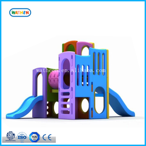 Newly Classic Indoor Plastic Combination Slide Equipment with Game House For Children