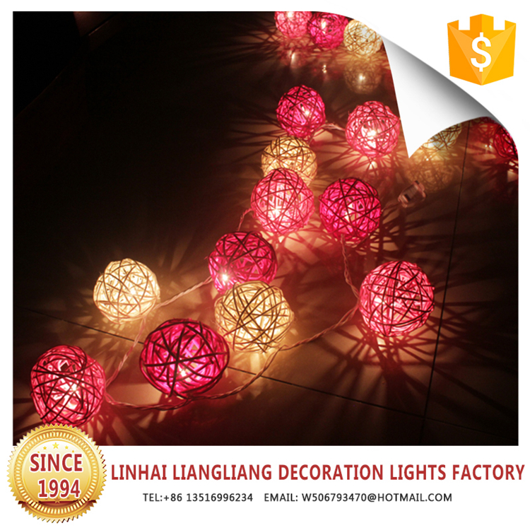 new design best price holiday rattan balls new led string lights