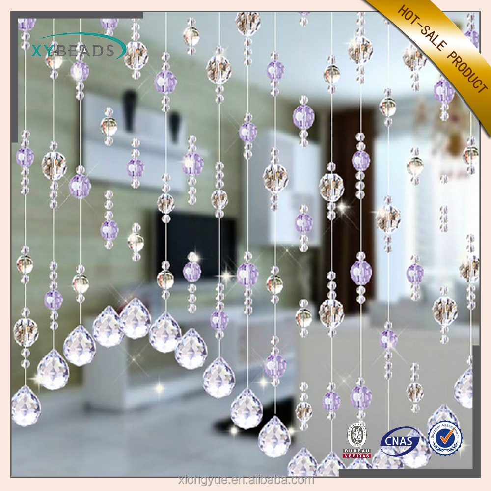 New Product Fashion Home Hanging Decorative Crystal Glass Bead Door Window Curtain