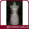 2014 pink bronzing cheap gold cocktail dress bandage fashion new design