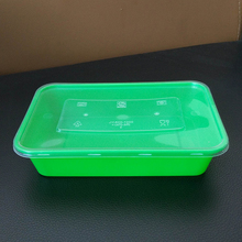 PP 500ml Small Food Grade Rectangular Plastic Fast Food Lunch Meal Takeaway Box Container