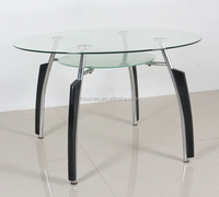 wood metal glass dining table