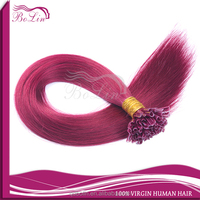100% Human Hair fashion red color remy malaysian human hair