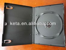 14mm Standard Thickness Plastic Single Black Cover long DVD case