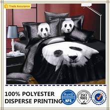 panda bedding 4PC set luxurious soft and durable fabric 3D Oil painting style