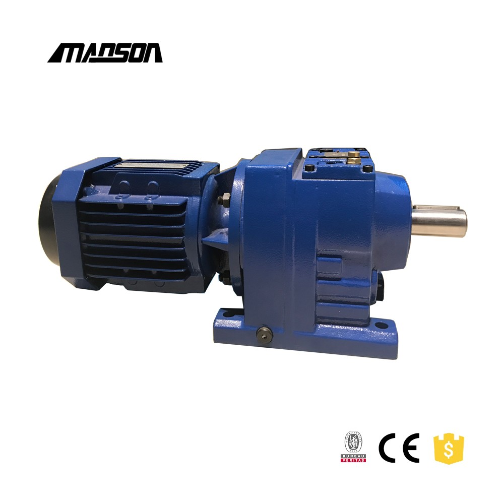 Manson Type High efficiency foot mounted Helical electric motor speed reducer