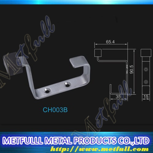Customize stainless steel hardware rubber coat hat hanging towel hook Door Assessories