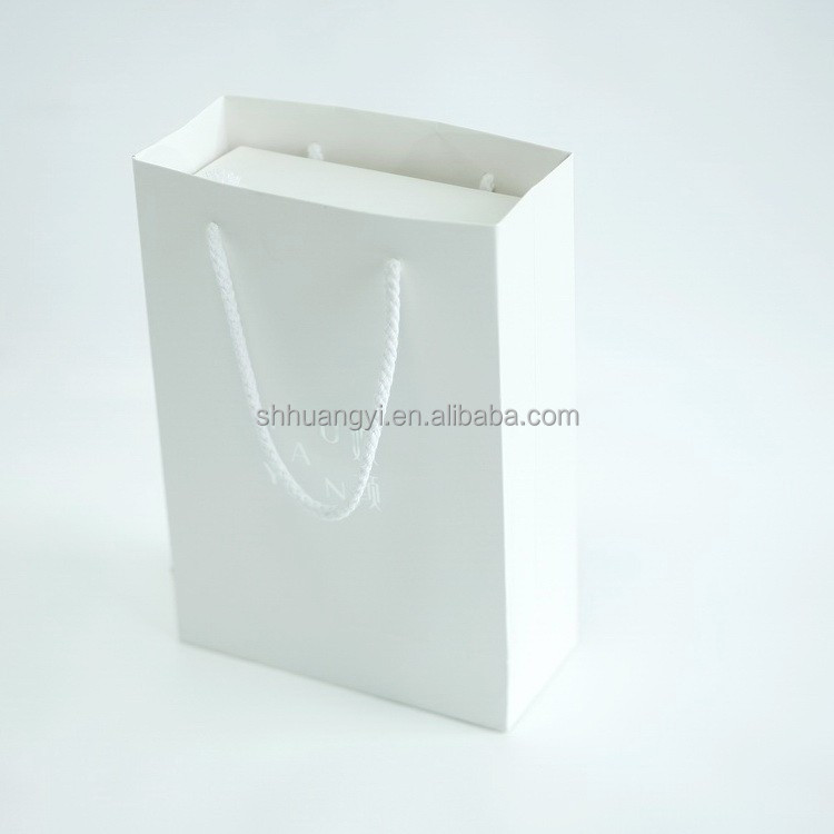 2015 New Luxury White Shopping Paper Bag for Cloth