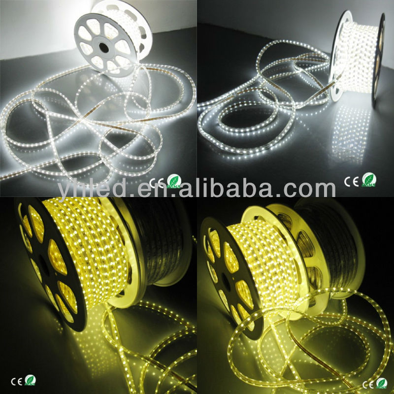 Outdoor waterproof high quality& high brightness 5050 ip6 110v 220v 60led/Meter 5050 dimmable led strip