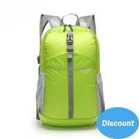Fashion Brand Colorful Waterproof Nylon Fabric Foldable Backpack with Double Shoulder