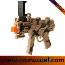 2017 hottest AR gun plastic ar game toy gun with 3D shooting games with bluetooth for phone