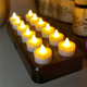 Induction Rechargeable Remote Control LED Tea Light Candles