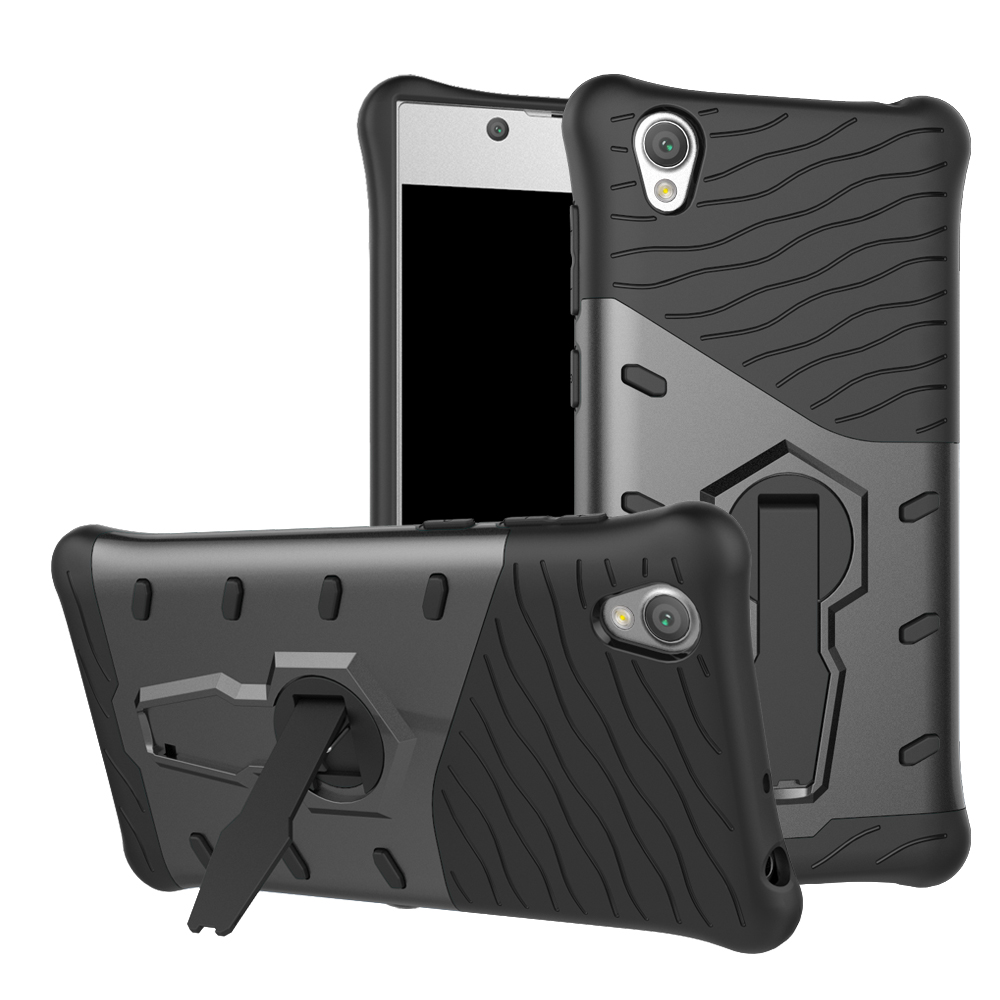 2017 wholesale Shockproof kickstand <strong>phone</strong> case for sony <strong>L1</strong> Stand armor 2 in 1 <strong>phone</strong> case for SONY xperia <strong>L1</strong>