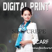 100% Digital print popular Silk Scarf -J