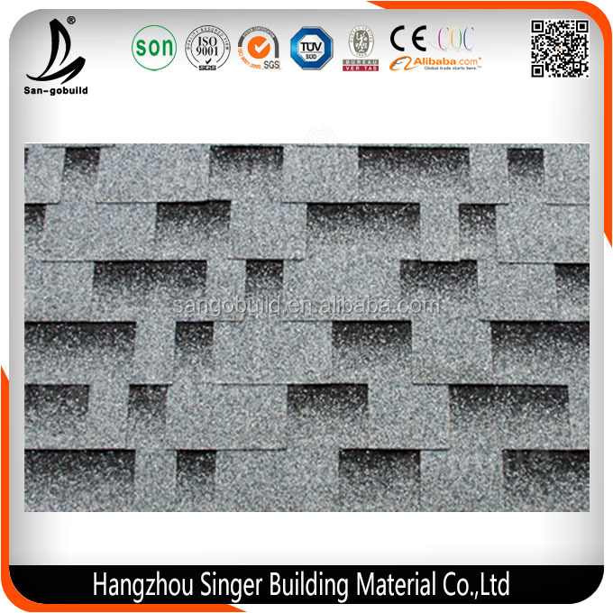 Adhesive Hangzhou Building Roofing Materials/ Colorful Cheap 3-Tab Asphalt Shingle Manufacturer