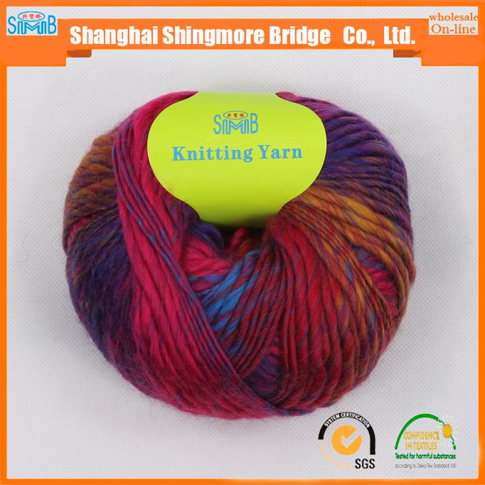 china fantasy yarn supplier shingmore bridge cheap sales high quality acrylic wool top dyed slub yarn for hand knitting