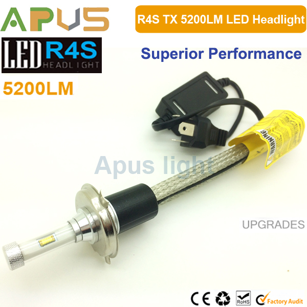New Exclusive R4S 10400LM super bright xenon white 6000K 2017 led h4