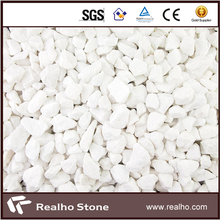 Crushed White Marble Chips Stone Flooring