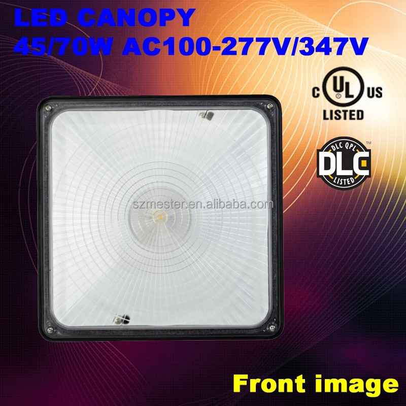 45W Smart motion sensor optional UL LED canopy light