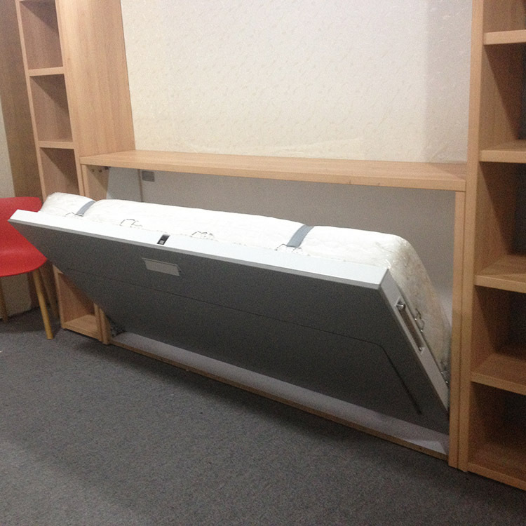 Folding Horizontal Wall Beds,Wall Beds With Storage Cabinet,Modern Horizontal Wall Beds