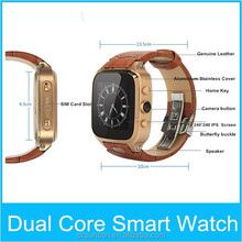 "Big screen smart watch cellphone 1.54""240*240 android 4.4 bluetooth 4.0 smart watch with wifi"