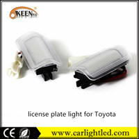 China best selling KEEN car led light license plate lights lamp truck for Toyota car number plate lighting
