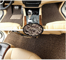 double color Car mat crazy sale pvc coil carpet for car with nail backing in roll