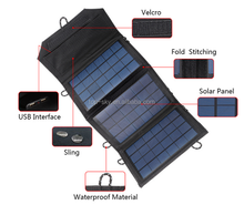 Portable Folding Solar Panel with USB Voltage Controller for Laptops/Mobile Phones/Solar Charger Bag