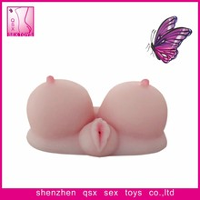 breast and pussy massager sex toys for man beautiful silicone fake artificial breast and vagina