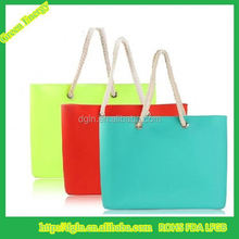 Hot Sale Fashionable Yellow Color Lady Fashion Candy Cute Silicone Bag