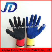JD630 Gloves manufacturers wholesale latex fold color nylon gloves
