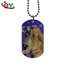 2017 Hot bulk wholesale custom dog tag necklace metal print hannah sexy girl TV movie character dog tag with ball chain