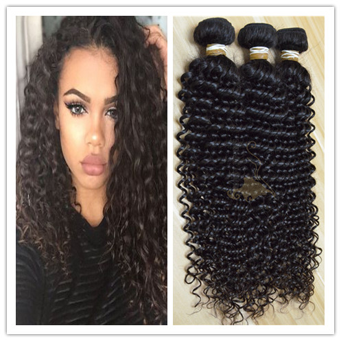 Most pupolar kinky curly no tangle no shed hiar weave human hair virgin filipino hair