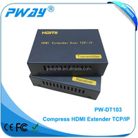 120m hdmi transmitter receiver ethernet over tcp ip extender support IR over lan