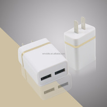 New Product 2017 High Speed 5V 2.1A Dual USB Wall Charger, Mini 2 Port USB Charger AC Power Adapter, US Plug USB Mobile Charger