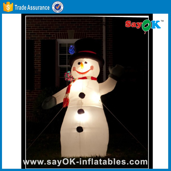 outdoor big inflatable snowman for christmas decoration