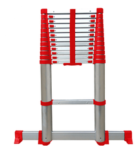 Soft close telescopic aluminium ladder approved by en131-6