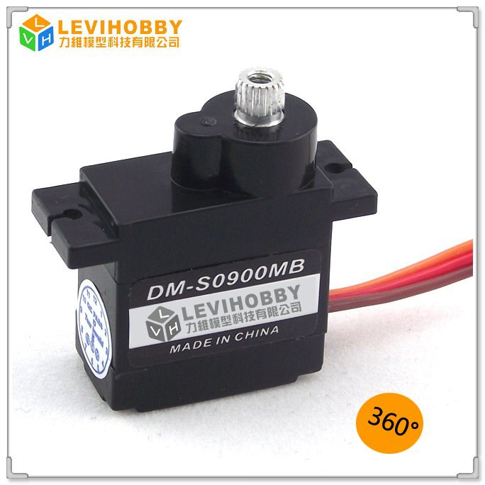 LEVI HOBBY 2kg High Torque Metal Gear 360 Degree Micro 9g Servo with Ball Bearing