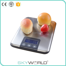 TY3111 Lower power consumption digital electronic kitchen scale with stainless steel platform