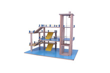 Wooden stable quality children toys garage play toys