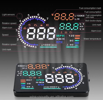 Car electronics security car speed display HUD head up display with reflecting film