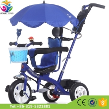 Stainless Steel baby tricycle Cheap Kids metal Tricycle with Air Tyre