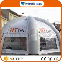 Super quality emergency rescue best quality cheap inflatable tents temporary inflatable tents selling green