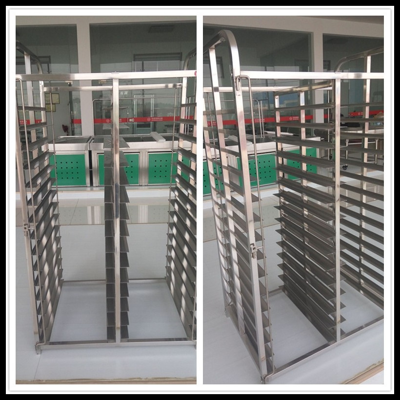 Stainless steel / aluminum bakery bread folding cooling rack and trolley